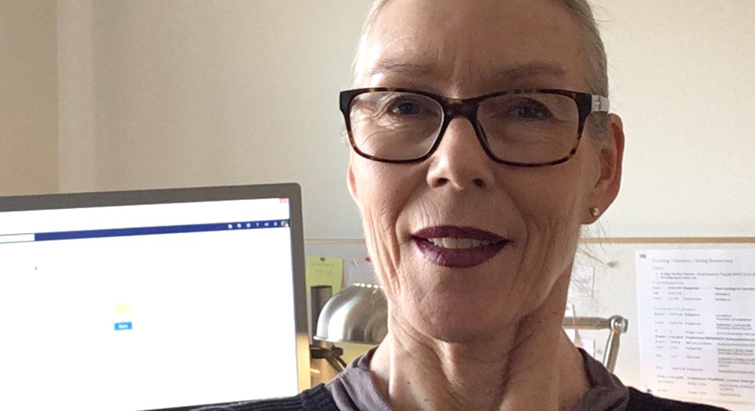 Ann-Katrin Hegart på sitt kontor